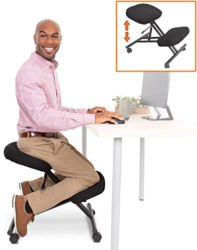 ProErgo Pneumatic Ergonomic Kneeling Chair | New & Improved! | Fully Adjustable Mobile Office...
