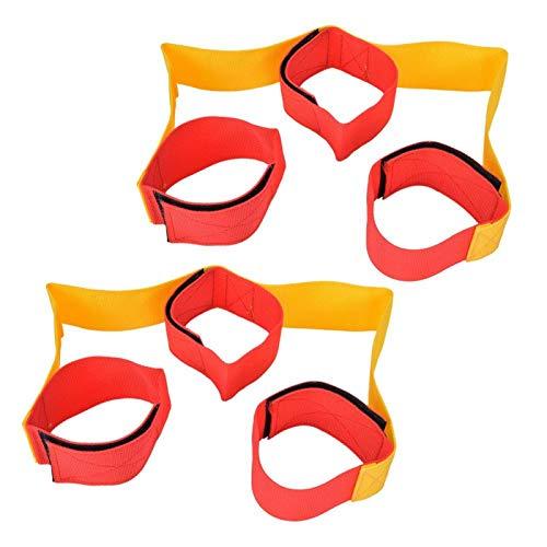 Bandas fijas con patas Juego de trabajo en equipo Juguetes(Leggings for 3 persons (1 pair))