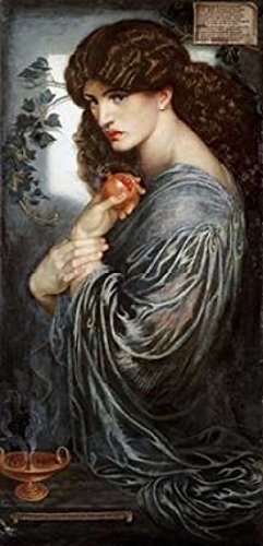 Posterazzi Proserpine Poster Print by Dante Gabriel Rossetti, (24 x 48)