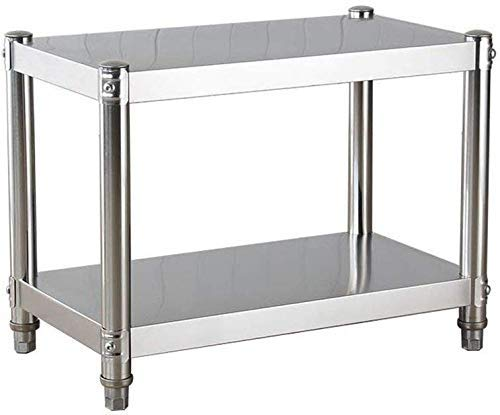 PRGA Küchenregal Regallager 2-Tier Cabinet Edelstahl Mikrowellenherd Veranstalter Badezimmer Schwimm Rack Mit 4 Haken Tischständer Regale Bracket
