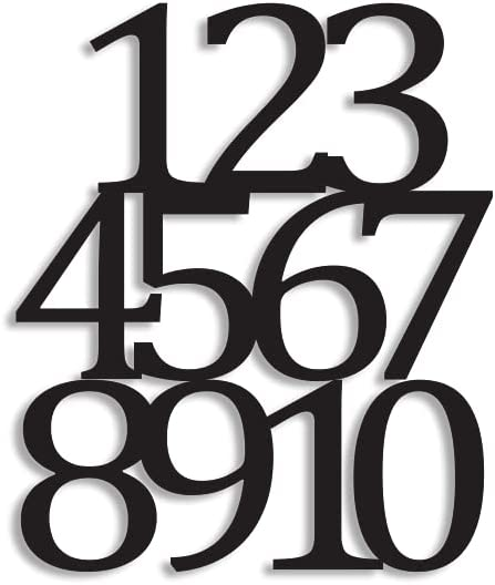 Personalized Wall Sign Metal W Special Campaign Number Laser Ranking TOP4 Cut