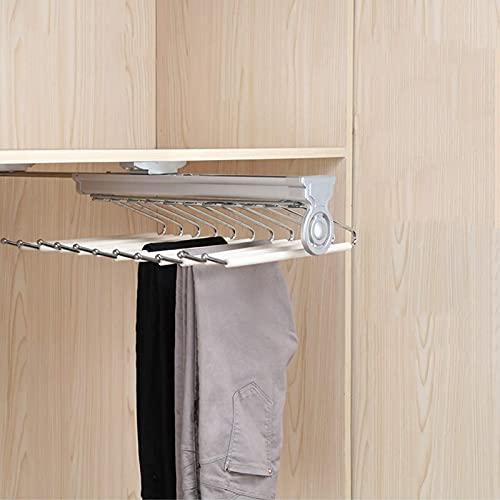 HXFAFA Percha para Pantalones con Corredera Armario Perchero Colgador Extraíble de Armario para Pantalones con Amortiguador Profundidad del Armario 48 cm