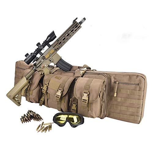 TBDLG Fusil Sac, Longue Carry Sac à Dos Tactique Pistolet Fourreau Molle Fusil Sling Case Sac pour Chasse Airsoft,100CM