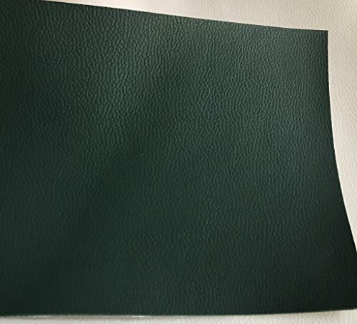 LUVFABRICS 54 Inch Wide Light Stretch PVC Upholstery Faux Leather Vinyl Fabric - Automotive, Home Decor, Clothing, Craft Supplies (Hunter Green)