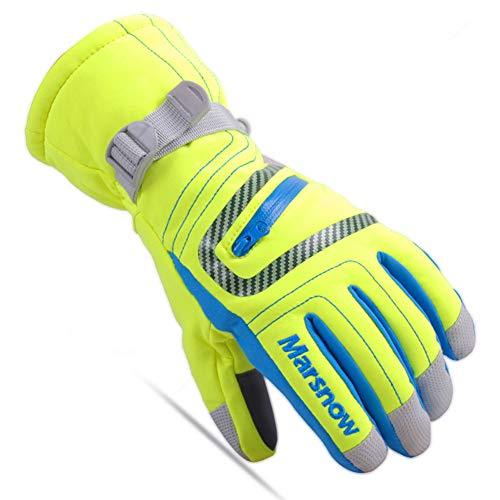 Kids Snow Ski Gloves Boy Girl Winter Stripe Touch Screen Waterproof Child Outdoor Cold Weather Snowboard Gloves