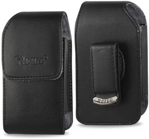 Vertical Leather Case with Magnetic closure with belt clip for AT&T LG b470 flip phone