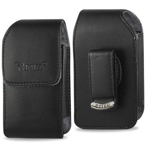 Vertical Leather Case with Magnetic Closure with Belt Clip for Consumer Cellular Doro Phone Easy 626.