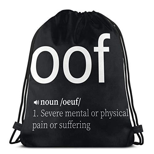 Oof - Bolsa de deporte con cordón para el sudor, bolsa de viaje, bolsa de regalo