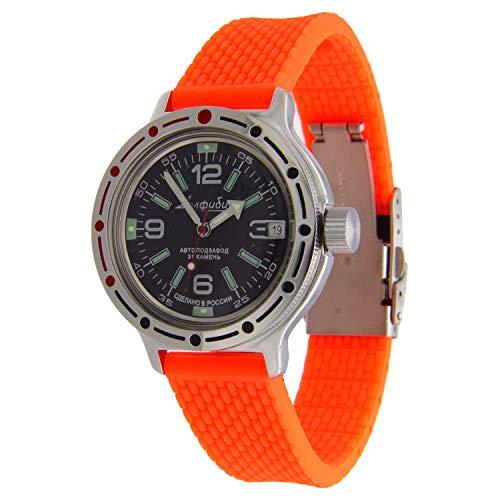 Vostok Amphibian #420640 Reloj de buceo automático ruso naranja