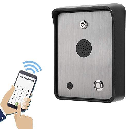 Intercomunicador de audio GSM, Controlador de acceso de apertura de puerta a prueba de lluvia Sistema de control de acceso de intercomunicador de acero inoxidable, Cerradura innovadora a prueba de agu