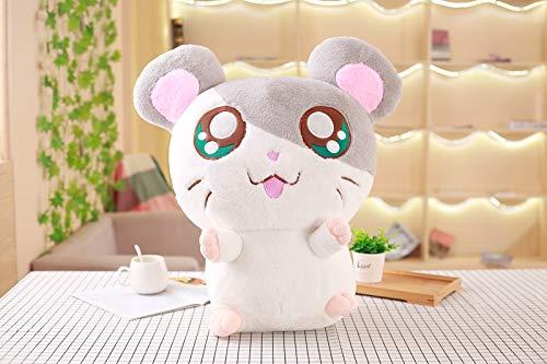 Mooie Hamster Muis Knuffel, Gevulde Zachte Dieren Hamster Poppen, Verjaardagscadeau Voor Kinderen, Mooie Kinderen Baby Speelgoed 30Cm (Grijs)