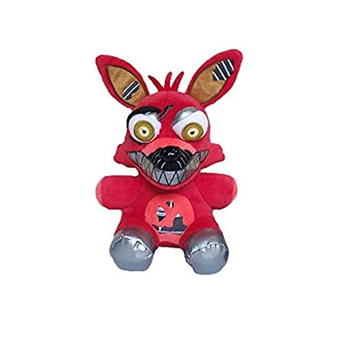 Five Nights at Freddy's Plush ToysAll Character Freddy Bear Bonnie Chica Foxy FNAF Stuffed Animal Doll Children's Gift Collection ByHENG-US (Red Foxy)