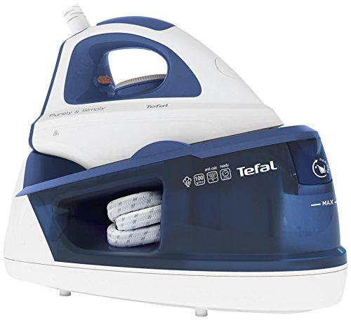 Tefal SV5030E0 Centro de planchado, 2200 W, 1.2 L, cerámica, color azul y blanco