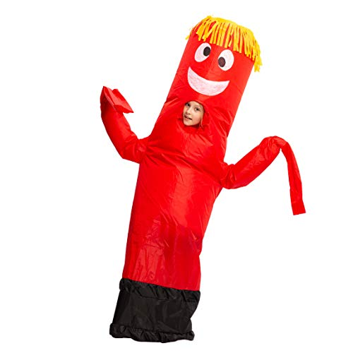 Spooktacular Creations Inflatable Costume Tube Dancer Wacky Waiving Arm Flailing Halloween Costume Child Size (Red)