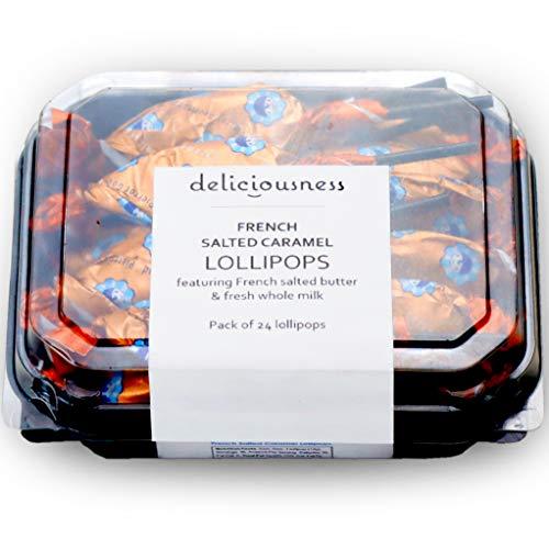 Pierrot Gourmand Gourmet French Salted Caramel Lollipops Gluten free 50 calories 24Pack