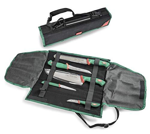 Sanelli 985605 Premana Professional Line 2.0 Chef Tasche/starrer Messerhalter für 5 Messer, schwarz