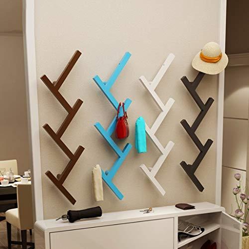 POETRY Metalen kast creatieve muur planken 4 kleuren beschikbaar slaapkamer woonkamer eenvoudige hanger haak (kleur: blauw)