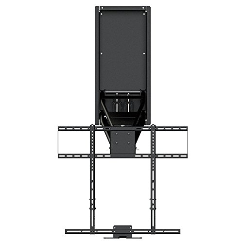 MantelMount MM750 Above Fireplace Pull Down TV Mount with 4 Premium Gas Pistons and Attached Recess Box for 1.6