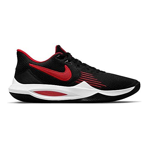 Nike Precision 5 Uomo Scarpe Da Pallacanestro Nero Rosso Bianca CW3403-004, nero (nero/bianco/rosso universitario.), 40.5 EU