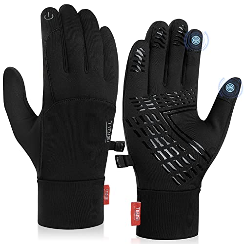 Cholewy Winter Gloves for Men Women Touch Screen Warm Gloves for Hiking, Running, Cycling, Driving, Workout - Black