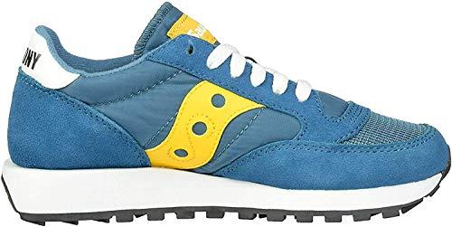 Saucony womens Jazz Original Vintage Sneaker, Teal/Yellow, 6.5 US