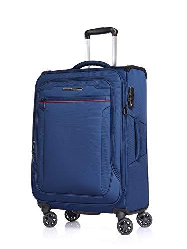 Verage Toledo - Maleta blanda (80 cm, 29-83 x 48 x 30 cm, 4 ruedas, cierre TSA), color azul