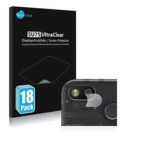 Savvies 18x Schutzfolie kompatibel mit Fairphone 3 (nur Kamera) Displayschutz-Folie Ultra-transparent