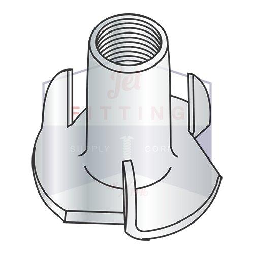 8-32X1 4 3 Prong Tee Nuts Zinc Quan 100% quality warranty Barrel Straight Steel Free shipping / New