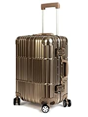 Design - Made from 100% Aviation Series 5 Grade Aluminum-Magnesium Alloy, a very lightweight and durable material. Fully lined interior with multi-use organizational pockets make it easy for packing clothes. Designed to provide strength, flexibilty a...