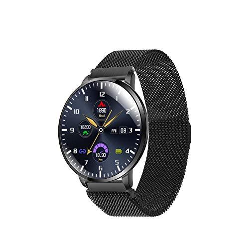 Yumanluo Smartwatch Impermeable,Monitorización del sueño del Ritmo cardíaco de la presión Arterial, Pulsera Inteligente multifunción Impermeable-Negro,Monitores de Actividad,Fitness Tracker