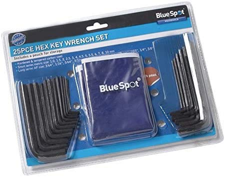 Blue Spot Tools 50 Piece Hex Key Set and Pouch