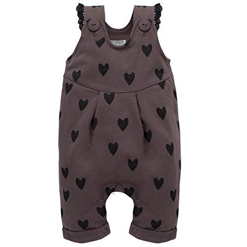 Pinokio - Little Bird - Combinaisons Bébé Fille Salopette Barboteuses Pantalons Girls Baby Dungarees 100% Coton Marron 62 68 74 80 86 cm (62 cm, Marron)