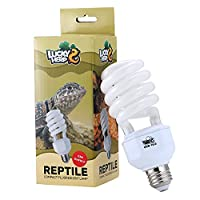 🦎Reptile uvb 10.0 bulb,ideal for all desert dwelling reptiles, such as bearded dragon, tortoise and other lizards. 🦎Perfect desert uvb reptile light: 10% UVB and 30% UVA output.No harmful UVC output. E27 socket, can be used directly. 🦎Special glass t...