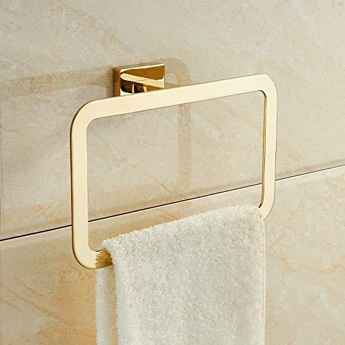 Toallero Perforado libre Toallero Estante de baño doméstico Colgante de pared Colgante de oro Barra de toalla Juego de anillo de toalla