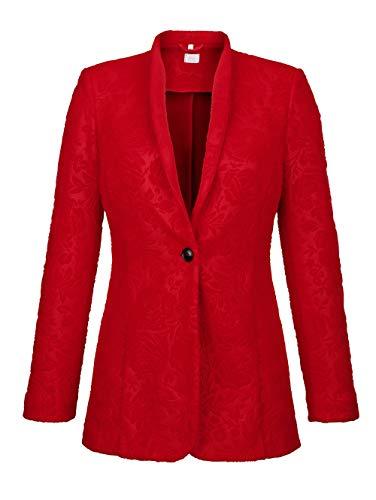Alba Moda Damen Blazer Rot 36 Kunstfaser