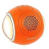 Máquina de sonido de ruido blanco Zanflare, máquina de sonido con luz nocturna, 35 sonidos de naturaleza/ventilador/ruido blanco, temporizador de apagado automático y función de memoria(naranja)