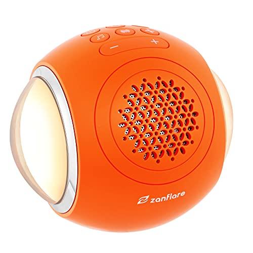 Zanflare White Noise Machine con luce notturna, 35 suoni della natura/ventilatore/rumore bianco, timer di spegnimento automatico e funzione di memoria, per casa, ufficio, viaggi(Arancia)