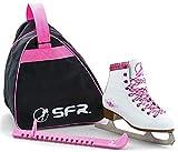 SFR Skate Pack Retro Schlittschuhe Set weiß-pink Mädchen white-pink, 32 (UK 13J)