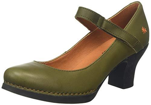 Art Harlem, Zapatos de tacón con Punta Cerrada Mujer, Verde (Kaki), 39 EU