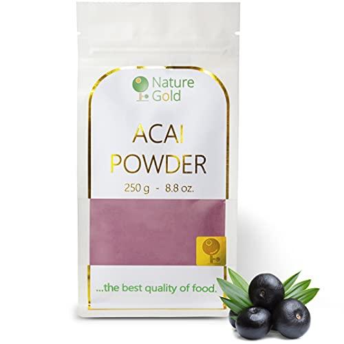ACAI Polvere | Estratto di bacche crude | 250g 8.8oz | 100% Naturale & Senza Zucchero | .la migliore qualità del cibo ~*~