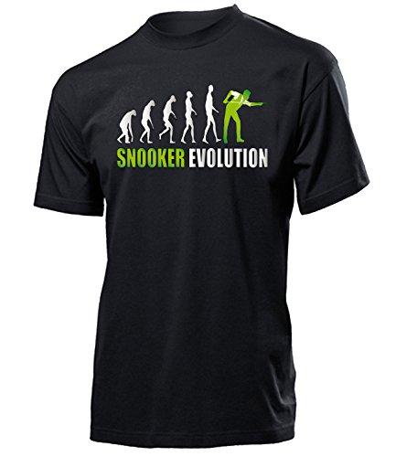 Snooker Evolution 1056 Sport Fanartikel Fanshirt Männer Turniershirt Sportbekleidung Geschenk für Herren T-Shirt Schwarz AD Grün M