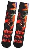 Bioworld Pesadilla en Elm Street Freddy Krueger nunca duermen de nuevo sublimada Crew Socks