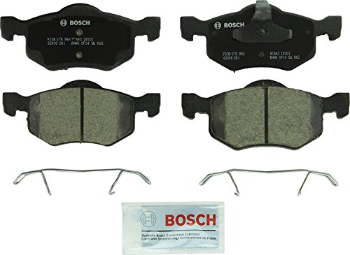 Bosch BC843 QuietCast Premium Ceramic Disc Brake Pad Set For 2001-2007 Ford Escape; 2001-2006 Mazda Tribute; 2005-2007 Mercury Mariner; Front
