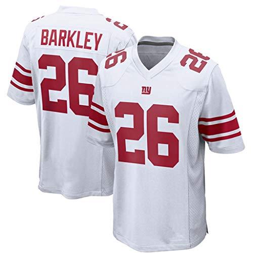 YISUDA NFL Trikot New York Giants 26# Barkley Fußball Trikot Fan Edition Fußball Sportbekleidung Kurzarm Sport Top T-Shirt,26-C,M