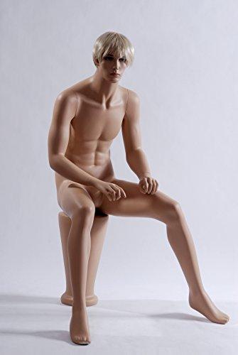 Euroton NEU sitzende Schaufensterpuppe Mannequin Figur männlich MS-12