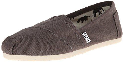 Toms Classic Ash White Mens Canvas Espadrilles Shoes Slipons-11