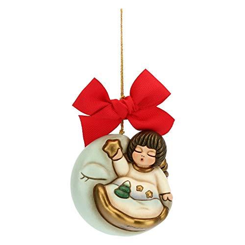 THUN ® - Addobbo per Albero di Natale Angelo su Luna Maxi