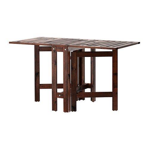 Ikea Applaro Vouwblad Houten Tafel Bruin Stoelen 2-4