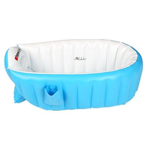 Tiny Tots gonflable bébé enfant Infant de bain pliable de voyage Air Tub Bleu (0–3 ans)