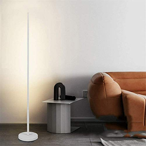 XXLYY LED Floor Lamp for Living Room, Modern Standing Floor Light Dimmable with Remote Control, 24W Uplighter Floor Lamp with Foot Switch and Plug Lighting for Bedroom Reading Room Piano, White